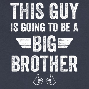 This guy is going is to be a big brother - Men's V-Neck T-Shirt by Canvas