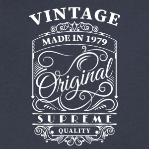 Vintage made in 1979 - Men's V-Neck T-Shirt by Canvas