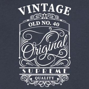 vintage old no 40 - Men's V-Neck T-Shirt by Canvas
