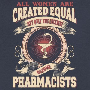 The Luckiest Women Become Pharmacists - Men's V-Neck T-Shirt by Canvas