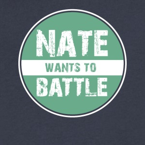NateWantsToBattle - Men's V-Neck T-Shirt by Canvas