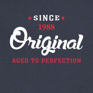 Since 1988 Original Aged To Perfection Cool Gift - Men's V-Neck T-Shirt by Canvas