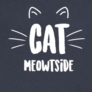 Cat Meowtside - Men's V-Neck T-Shirt by Canvas