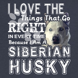 Siberian Husky Shirt - Men's V-Neck T-Shirt by Canvas