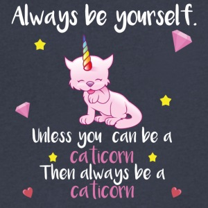 Always be yourself - caticorn - Men's V-Neck T-Shirt by Canvas