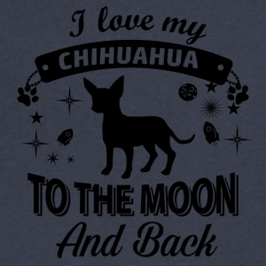 Love my Chihuahua - Men's V-Neck T-Shirt by Canvas