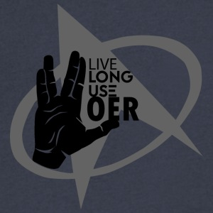 Live Long Use OER - Men's V-Neck T-Shirt by Canvas