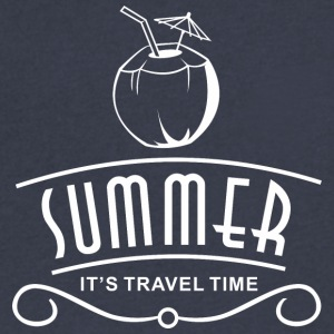 Summer Travel Time - Men's V-Neck T-Shirt by Canvas