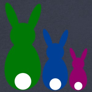 three easter rabbits - Men's V-Neck T-Shirt by Canvas