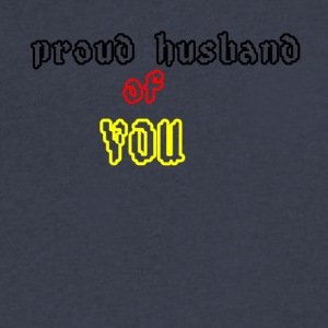 Proud husband of you - Men's V-Neck T-Shirt by Canvas