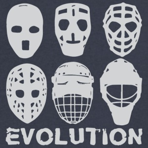 hockey goalie mask evolution - Men's V-Neck T-Shirt by Canvas