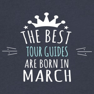 Best TOUR_GUIDES are born in march - Men's V-Neck T-Shirt by Canvas