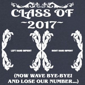 Class of 2017- Keepsake - Lose Our Number - Men's V-Neck T-Shirt by Canvas