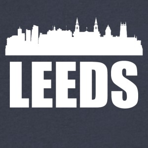 Leeds Skyline - Men's V-Neck T-Shirt by Canvas