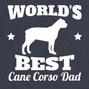 Worlds Best Cane Corso Dad - Men's V-Neck T-Shirt by Canvas