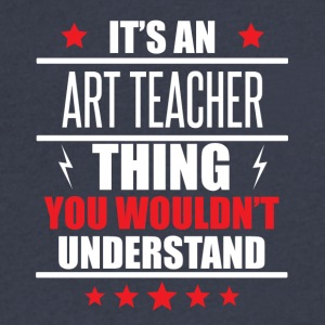 It's An Art Teacher Thing - Men's V-Neck T-Shirt by Canvas