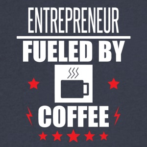 Entrepreneur Fueled By Coffee - Men's V-Neck T-Shirt by Canvas