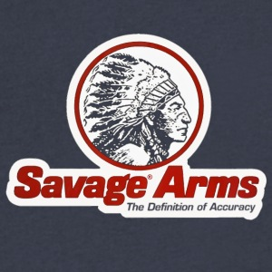 SAVAGE ARMS Classif Riffles Logo - Men's V-Neck T-Shirt by Canvas