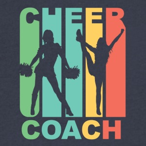 Vintage Cheer Coach Cheerleading Graphic - Men's V-Neck T-Shirt by Canvas
