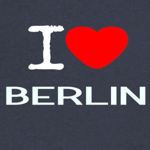 I LOVE BERLIN - Men's V-Neck T-Shirt by Canvas