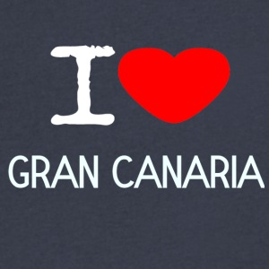 I LOVE GRAN CANARIA - Men's V-Neck T-Shirt by Canvas