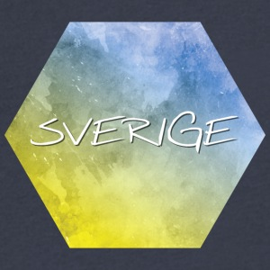 Sverige - Sweden - Men's V-Neck T-Shirt by Canvas