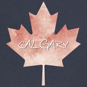 Maple Leaf Calgary - Men's V-Neck T-Shirt by Canvas