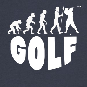 Golf Evolution - Men's V-Neck T-Shirt by Canvas