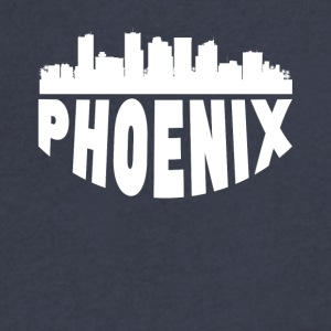 Phoenix AZ Cityscape Skyline - Men's V-Neck T-Shirt by Canvas