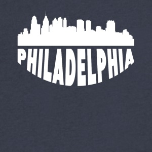 Philadelphia PA Cityscape Skyline - Men's V-Neck T-Shirt by Canvas