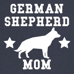 German Shepherd Mom - Men's V-Neck T-Shirt by Canvas