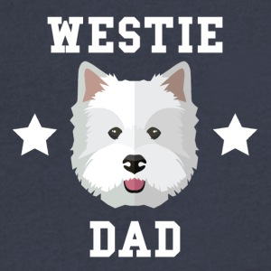 Westie Dad Dog Owner - Men's V-Neck T-Shirt by Canvas