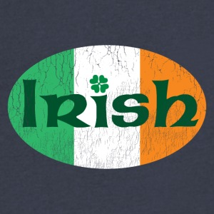 Irish weathered oval - Men's V-Neck T-Shirt by Canvas