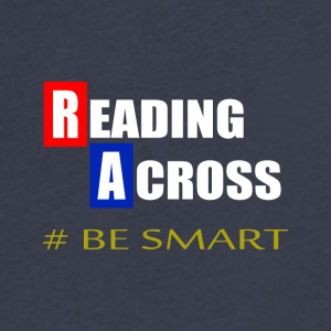 Reading Across Be Smart America - Men's V-Neck T-Shirt by Canvas