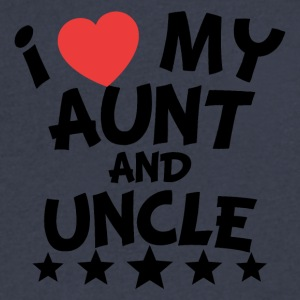 I Heart My Aunt And Uncle - Men's V-Neck T-Shirt by Canvas