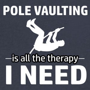 Pole Vaulting is my therapy - Men's V-Neck T-Shirt by Canvas