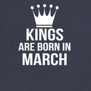 kings are born in march - Men's V-Neck T-Shirt by Canvas