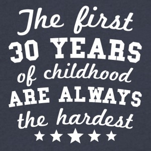 30 Years Of Childhood 30th Birthday - Men's V-Neck T-Shirt by Canvas