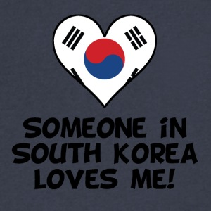 Someone In South Korea Loves Me - Men's V-Neck T-Shirt by Canvas
