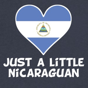 Just A Little Nicaraguan - Men's V-Neck T-Shirt by Canvas