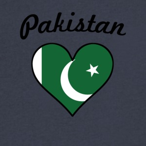 Pakistan Flag Heart - Men's V-Neck T-Shirt by Canvas