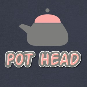 Pot Head - Men's V-Neck T-Shirt by Canvas