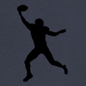 Football Wide Receiver Silhouette - Men's V-Neck T-Shirt by Canvas
