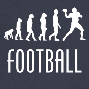 Football Evolution Quarterback - Men's V-Neck T-Shirt by Canvas