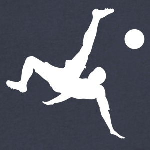 Bicycle Kick Soccer - Men's V-Neck T-Shirt by Canvas