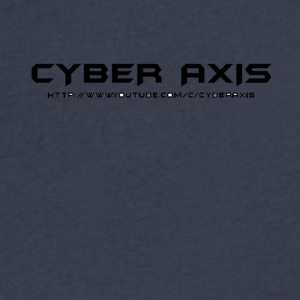 Simpe Cyber Axis Design. - Men's V-Neck T-Shirt by Canvas