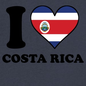 I Love Costa Rica Costa Rican Flag Heart - Men's V-Neck T-Shirt by Canvas