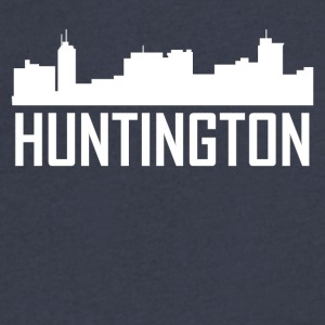 Huntington West Virginia City Skyline - Men's V-Neck T-Shirt by Canvas
