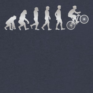 It s Just Evolution Biker - Men's V-Neck T-Shirt by Canvas