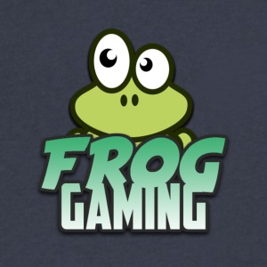 Frog Gaming Logo Transparent - Men's V-Neck T-Shirt by Canvas